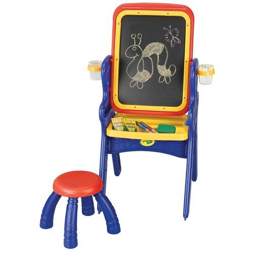 Парта-мольберт Crayola со стульчиком (5056-01) синий/желтый/красный