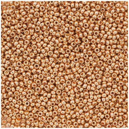 (18184) 331-19001-10/0 Бисер золото 10/0, круг.отв., 20гр Preciosa 5 упак