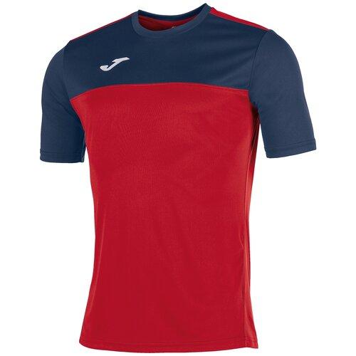 Футболка joma размер L, красный/темно-синий