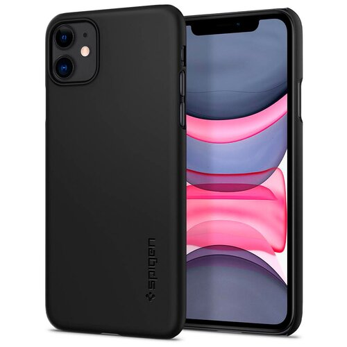 Чехол Spigen Thin Fit, black - iPhone 11