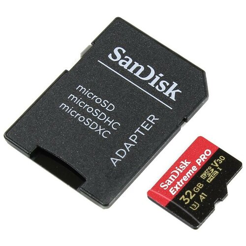 Фото - Карта памяти 32Gb - SanDisk Extreme Pro - Micro Secure Digital Class 10 SDSQXCG-032G-GN6MA (Оригинальная!) карта памяти 256gb sandisk extreme pro secure digital xc