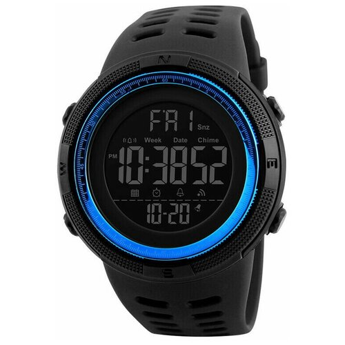 Часы Skmei 1251 Чёрные/синие
