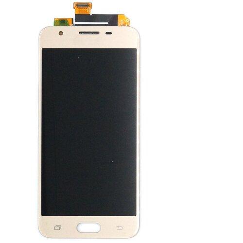 Дисплей для Samsung Galaxy J5 Prime/G570F с тачскрином (золото) чехол для samsung galaxy j5 prime sm g570f ds gecko flip case серебристый