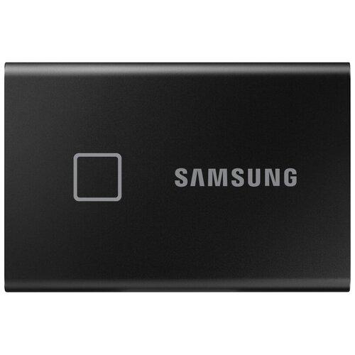 Фото - Портативный SSD Samsung T7 Touсh 2Tb 1.8, USB 3.2 G2, чер, MU-PC2T0K/WW портативный ssd hp p500 1tb usb 3 1 g2 type c син 1f5p6aaabb
