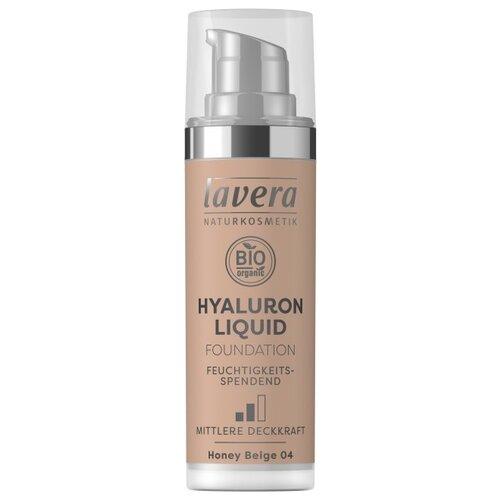 Купить Lavera Тональный крем Тональный крем Hyaluron LIiquid Foundation, 30 мл, оттенок: 04 honey beige