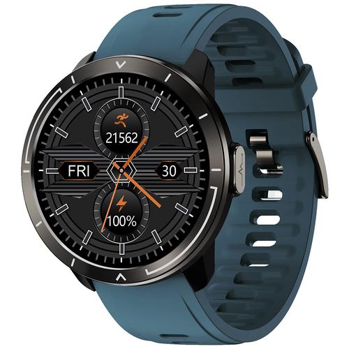 Часы Smart Watch M18plus GARSline черные (ремешок синий)