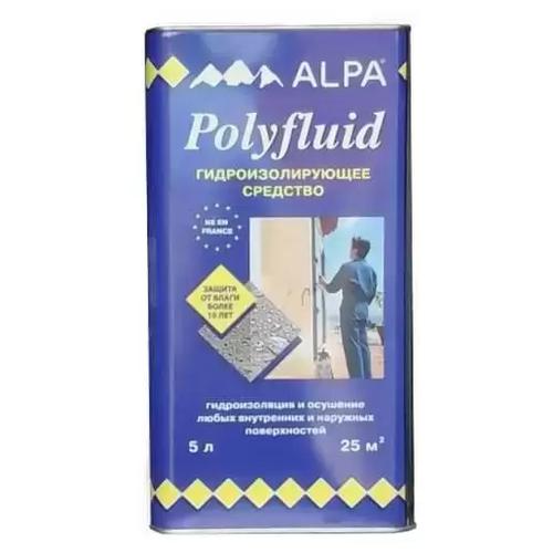 Профессиональная гидроизоляция Alpa Полифлюид, 5 л