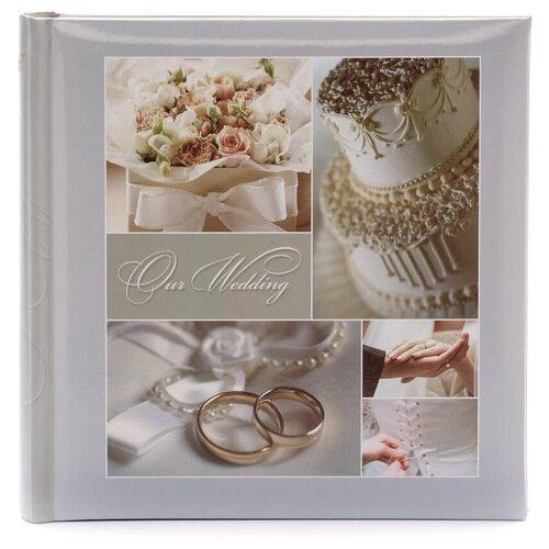 Фотоальбом Fotografia 10x15 см 200 фото, книжный переплет, свадебный