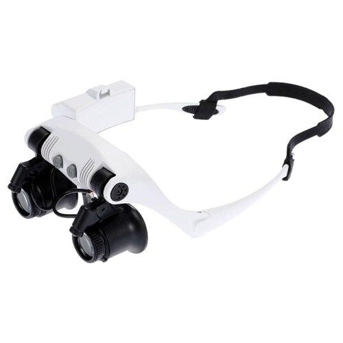 Фото - Лупа-очки Kromatech налобная бинокулярная 10/15/20/25x, с подсветкой (2 LED) MG9892G-3A лупа kromatech налобная 1 2 1 8 2 5 3 5x с подсветкой 1 led mg81001 f