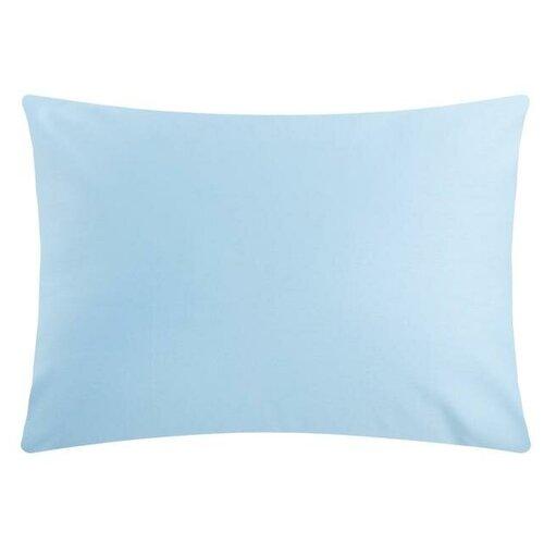 Наволочка Этель 50*70 см, цв. голубой, 100% хлопок, мако-сатин, 128 г/м² 6783301