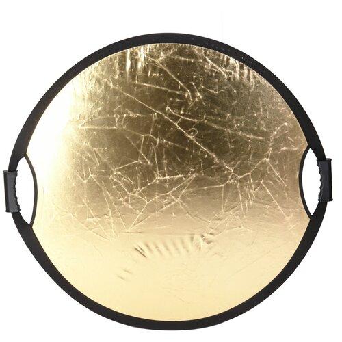 """Отражатель GreenBean """"Flex 80 gold/white M"""" диаметр 80 см белый золотой"""
