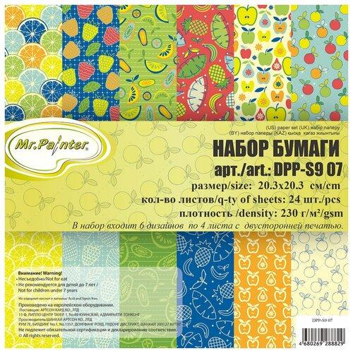 Бумага Mr. Painter 20,3x20,3 см, 24 листа, DPP-S9 07