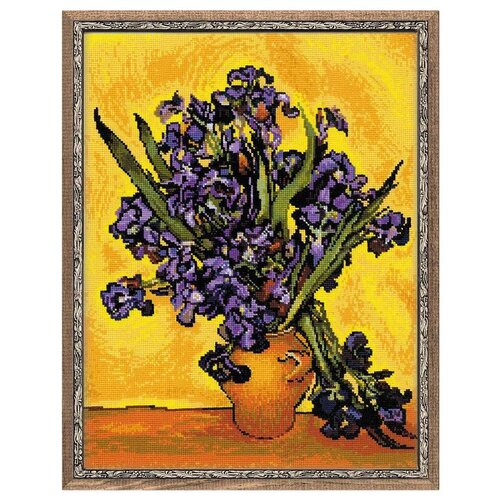 Купить Риолис Набор для вышивания крестом Ирисы (по мотивам картины В. Ван Гога) 30 х 40 см (1087), Наборы для вышивания