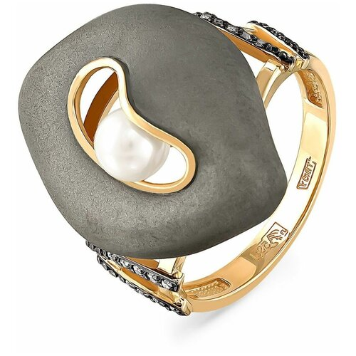 Фото - KABAROVSKY Кольцо с жемчугом и бриллиантами из жёлтого золота 11-2992-1500, размер 17.5 kabarovsky кольцо с жемчугом и бриллиантами из белого золота 21 1031 1500 размер 18