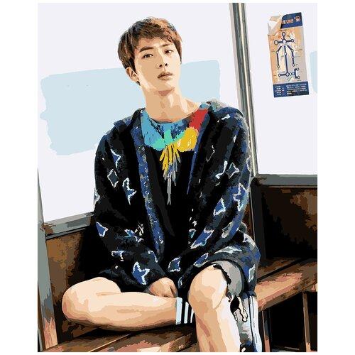 Купить Картина по номерам BTS Jin, 60 х 70 см, Красиво Красим, Картины по номерам и контурам