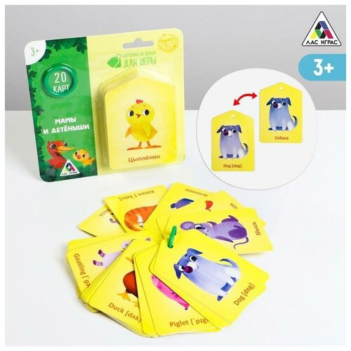 Купить Карточки на кольце для игры Мамы и детеныши 4773878, Лас Играс, Дидактические карточки