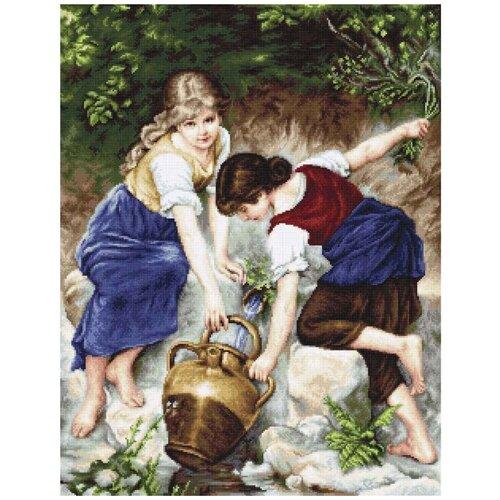 Купить Luca-S Набор для вышивания У фонтана 34 х 44 см (B564), Наборы для вышивания