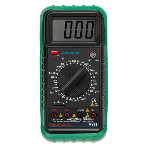Цифровой мультиметр MASTECH MY61 тест диодов и транзисторов