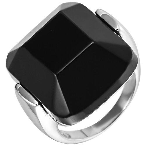 Balex Кольцо 1432930117 из серебра 925 пробы с ониксом, размер 19