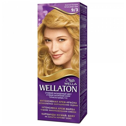 Wellaton стойкая крем-краска для волос, 9/3 золотой блондин wellaton стойкая крем краска для волос 12 0 светлый натуральный блондин