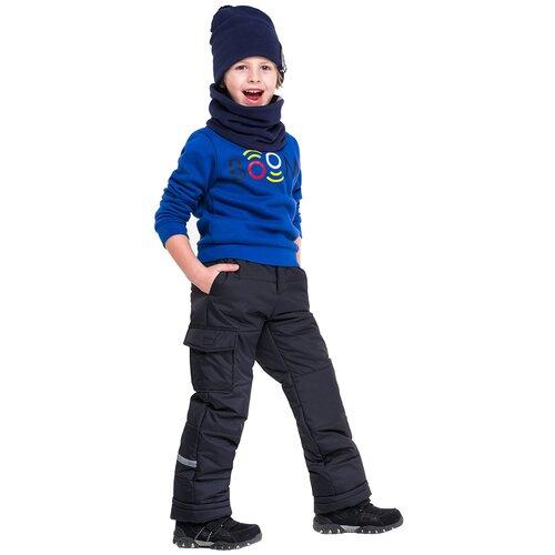 Купить Брюки BOOM! by Orby 90579_BOB размер 140, черный, Полукомбинезоны и брюки