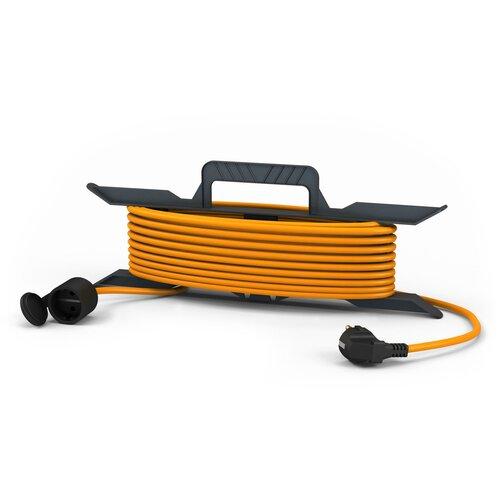 Фото - Удлинитель-шнур силовой ПАРТНЕР ЭЛЕКТРО 1 розетка 10м US206С-110OR 16А IP44 с/з удлинитель шнур силовой denzel 2 розетки 10м 96020 16а ip44 с з