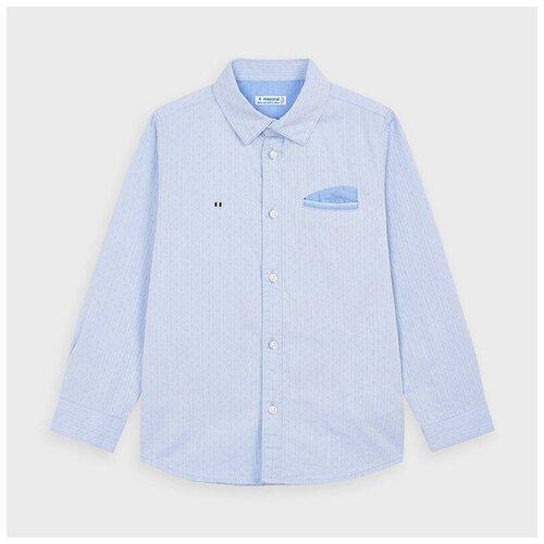 Рубашка Mayoral размер 6(116), голубой