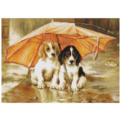 Набор для вышивания Двое под зонтом, Luca-S 30,5 х 22,5 см ( B550 )