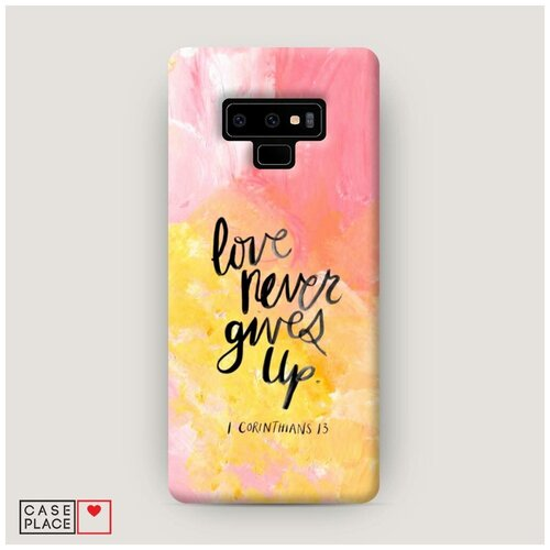 Чехол Пластиковый Samsung Galaxy Note 9 Цитата на акриле