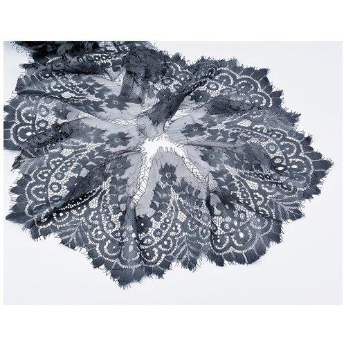 Кружево Бэстекс СПб пришивное Реснички TBY.90001, 150 мм, 30 м 312 темно-серый