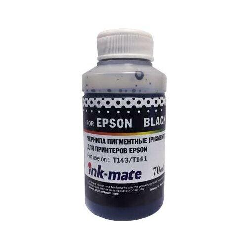 Фото - Чернила для EPSON (T143/T141)/ Expression Home XP-103/203/406 (70мл, black, Pigment) EIM-143PBk Ink-Mate чернила краска для заправки принтера epson expression home xp 203 набор макси