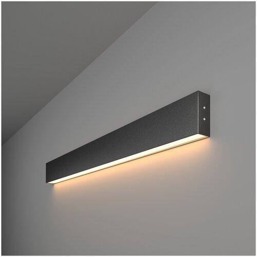 Линейный светодиодный накладной односторонний светильник 78см 15Вт 3000К черный Elektrostandard Pro Линейный светодиодный накладной односторонний светильник 78см 15W 3000K черная шагрень (101-100-30-78)