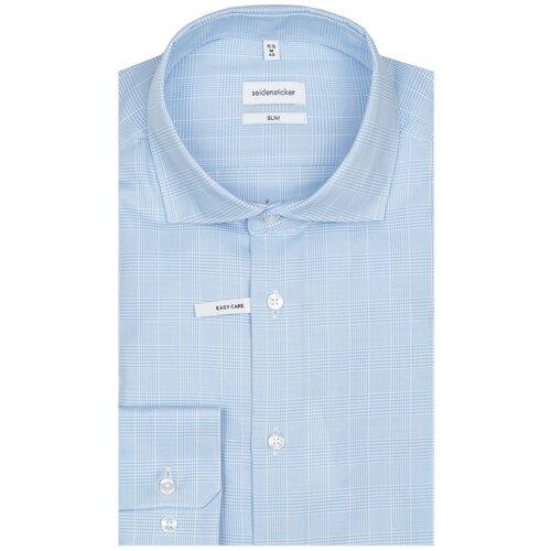 Рубашка Seidensticker размер 40 голубой