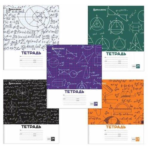 Упаковка Тетрадей 24 л. BRAUBERG, клетка, обложка картон, чертежи И формулы, (5шт.) 403008