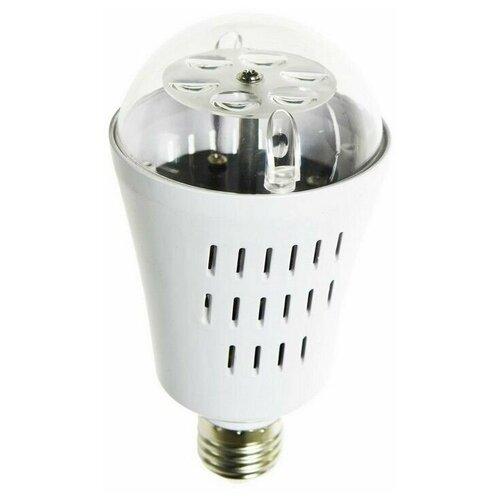 Светодинамическая лампа новогодняя фантазия, 4 RGB LED-огня, проекция 36 м2, 7.5x14.5 см, цоколь Е27, для дома, Kaemingk
