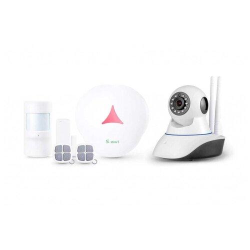 Комплект беспроводной охранной GSM видео сигнализации Страж Мини Видео + G90B для дома квартиры дачи коттеджа