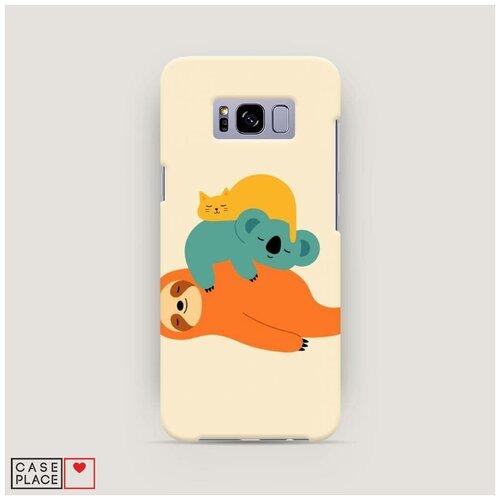 Чехол Пластиковый Samsung Galaxy S8 Ленивая компания