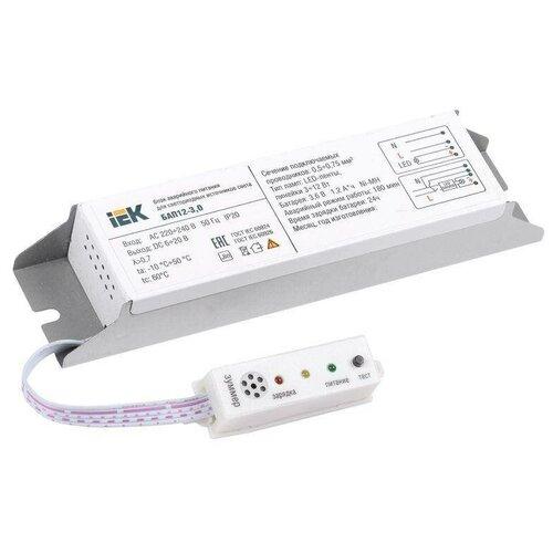 Блоки аварийного питания IEK Блок аварийного питания БАП12-3.0 для LED ИЭК LLVPOD-EPK-12-3H