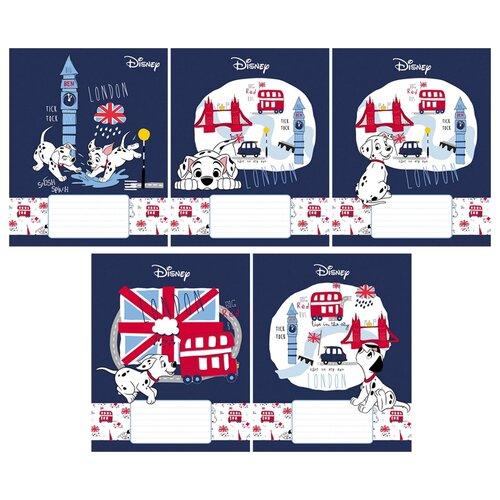 Hatber Упаковка тетрадей Disney. Далматинцы 12Т5В1, 10 шт./5 дизайнов, клетка, 12 л. набор тетрадей hatber классика 12т5в1