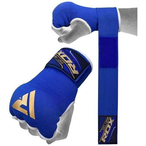 Бинты быстрые для муай-тай и mma RDX 75CM GEL INNER GLOVES WITH WRIST STRAP текстиль синий цвет синий размер M