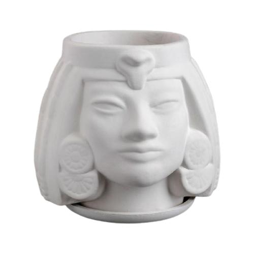 Кашпо Хорошие сувениры Африканка, 16 х 17 см белый
