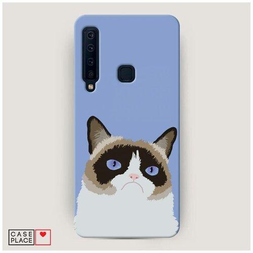 Чехол Пластиковый Samsung Galaxy A9 2018 Мем грустный кот