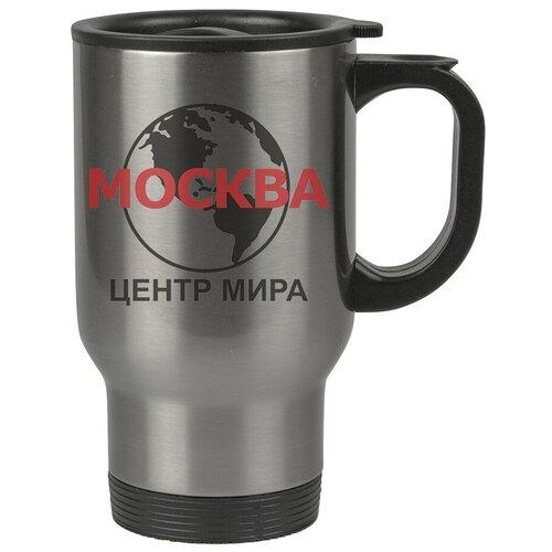 Автомобильная термокружка Москва - центр мира