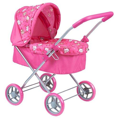 Купить Детская игрушечная классическая коляска Buggy Boom для кукол Mixy 8015 с козырьком, Коляски для кукол