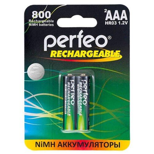 Фото - Аккумулятор AAA - Perfeo 800 mAh PF AAA800/2BL (2 штуки) аккумулятор perfeo aa2500mah 2шт