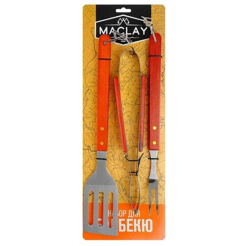 Набор для барбекю (лопатка, щипцы, вилка), 40 см 134212