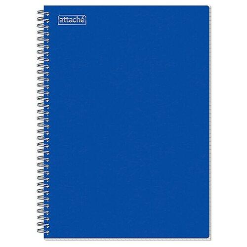 Тетрадь общая A4 на спирали в клетку Attache, 96 листов (синяя) тетрадь общая attache lines waves а5 96 листов в клетку на спирали 4 шт