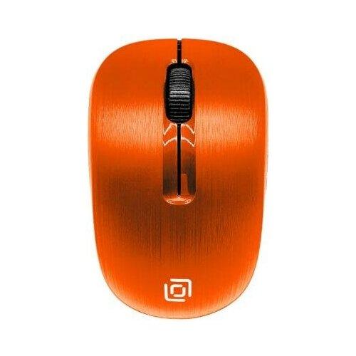 Oklick Мышь Oklick 525MW оранжевый оптическая (1000dpi) беспроводная USB (2but)