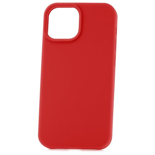 Чехол для Apple iPhone 13 mini Derbi Soft Plastic-3 красный / чехол на айфон / противоударный чехол на айфон / однотонный чехол / чехол с защитой углов / чехол для Эпл Айфон / бампер на айфон / защитный чехол для iPhone / бампер для iPhone / софт тач чехол / бархатный чехол на айфон / чехол с высоким бортиком для iPhone / чехол с защитой камеры на айфон / силиконовый чехол / пластиковый бампер / защита для айфон 13 мини / iphone 13 mini