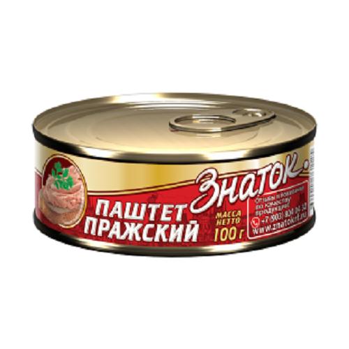 Паштет Пражский Знаток ГОСТ -0,100 кг) ключ
